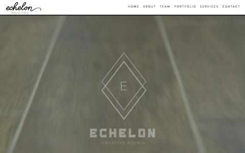 Screenshot of Home Page echeloncreative.tv - Echelon Creative Studio | Ideas Made Reel - captured Sept. 22, 2015