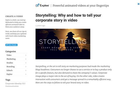 Screenshot of Blog explee.com - Powerful animated videos at your fingertips - captured May 10, 2019
