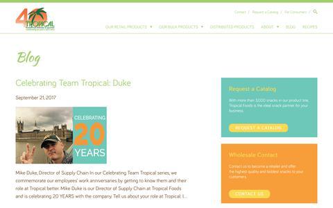 Screenshot of Blog tropicalfoods.com - Blog - Tropical Foods - captured Sept. 26, 2017