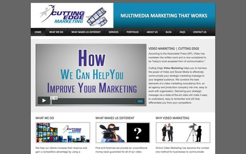 Screenshot of Home Page video-marketing-online.net - Video Marketing - captured Oct. 3, 2014
