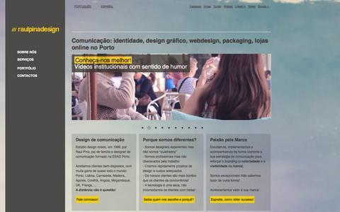 Screenshot of Home Page raulpinadesign.pt - /// raulpinadesign marca logótipos webdesign lojas online embalagens - captured Sept. 30, 2014