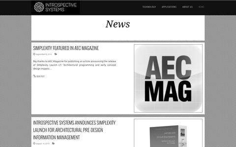 Screenshot of Press Page introspectivesystems.com - Introspective Systems - captured Nov. 3, 2014