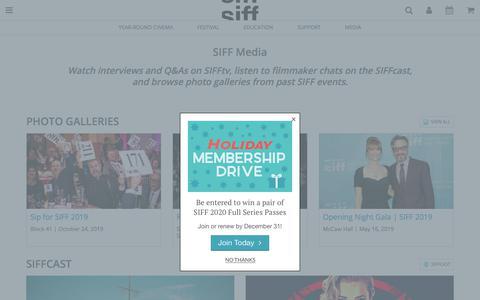 Screenshot of Press Page siff.net - SIFF Media - captured Dec. 8, 2019