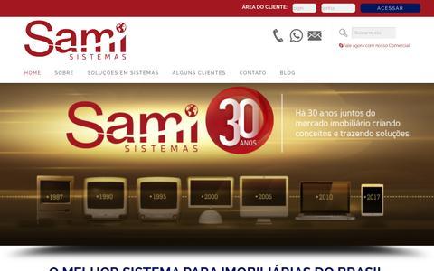 Screenshot of Home Page samisistemas.com.br - O melhor sistema para imobiliárias - Sami Sistemas - captured Jan. 26, 2017