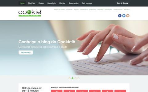 Screenshot of Home Page cookie.com.br - Cookie® | Tecnologia e Marketing - captured Oct. 3, 2014