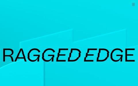 Screenshot of Home Page raggededge.com - Ragged Edge - Branding Agency London - Ragged Edge - captured Jan. 25, 2020