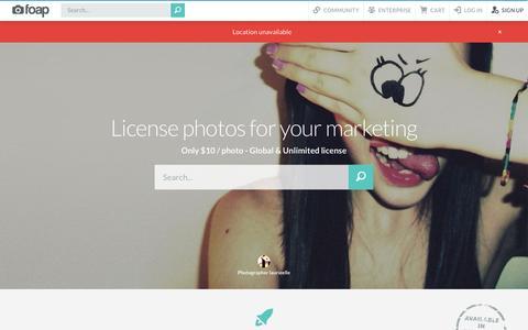 Screenshot of Signup Page foap.com - Engaging social media photos   Foap - captured July 15, 2015