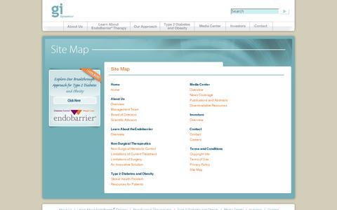 Screenshot of Site Map Page gidynamics.com - Sitemap - captured July 19, 2014