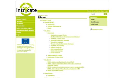 Screenshot of Site Map Page intricate.eu - Sitemap - Intricate - captured Oct. 4, 2014