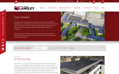 Screenshot of Case Studies Page langley.co.uk - Langley Waterproofing Systems Ltd - Case Studies - captured Nov. 10, 2018