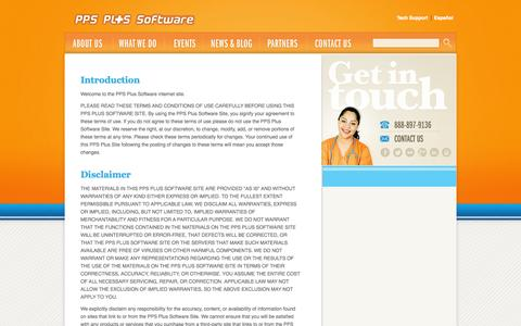 Screenshot of Terms Page ppsplus.com - Terms of Use -  PPS Plus Software | OASIS Analysis Software By Nurses For Nurses - captured Sept. 22, 2014