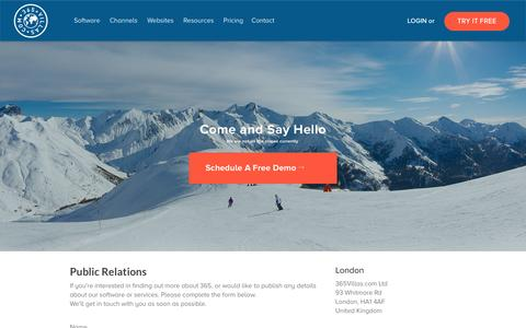 Screenshot of Press Page 365villas.com - Press    365 Villas - Revolutionizing Vacation Rental Software - captured Feb. 24, 2016