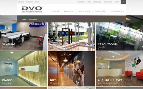 Screenshot of Case Studies Page dvoffice.com - Case Studies - captured Oct. 27, 2014