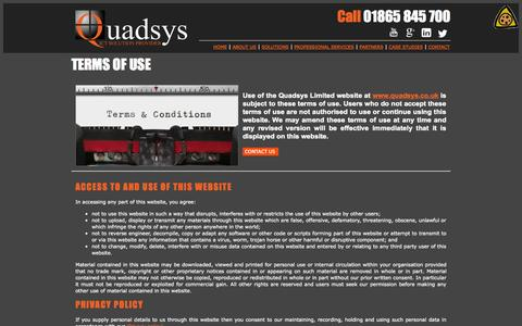 Screenshot of Terms Page quadsys.co.uk - Quadsys - ICT Solution provider - captured Oct. 2, 2014