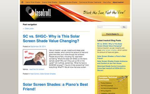 Screenshot of Blog insolroll.com - Blog » Insolroll - captured Oct. 6, 2014