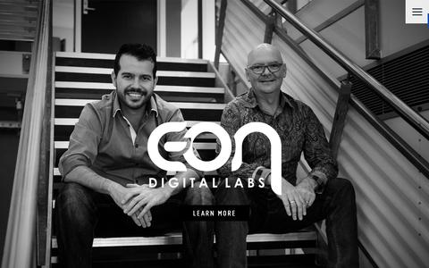 Screenshot of Home Page eon.com.au - Eon Digital Labs - captured Jan. 30, 2016