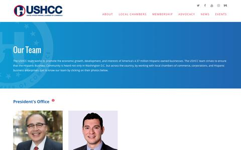 Screenshot of Team Page ushcc.com - Our Team - USHCC - captured Oct. 18, 2018