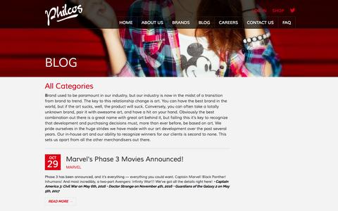 Screenshot of Blog philcos.com - Blog - Philcos - captured Nov. 1, 2014