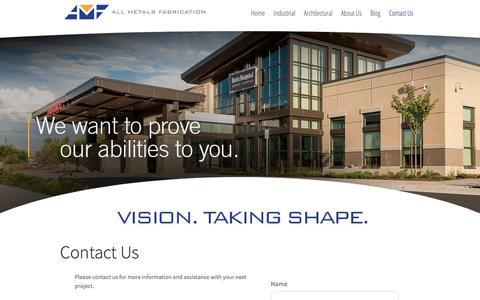Screenshot of Contact Page allmetalsfab.com - Contact Us | All Metals Fabrication | Ogden UT - captured Oct. 3, 2018