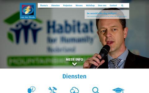 Screenshot of Home Page vanderheide.nl - Home - van der Heide - captured Aug. 13, 2015