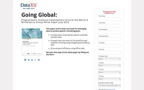 Screenshot of Landing Page dataxu.com - Winterberry Going Global: Programmatic Audience Development - captured Aug. 30, 2016