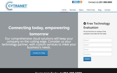 Screenshot of Services Page cytranet.com - Cytranet - Business Communication - IT Management - Phone - Cloud Services - captured July 6, 2018
