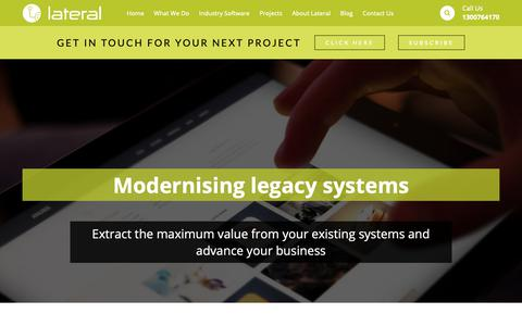 Screenshot of Home Page lateral.com.au - Custom Software Development & App Developers Perth | Lateral Solutions - captured Sept. 27, 2018