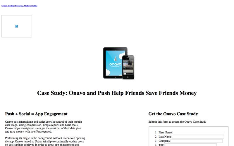 Push Notification Platform Case Study | Onavo | Urban Airship