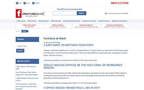Screenshot of Blog furniture-work.co.uk - Furniture at Work  - Furniture at Work™ - captured July 5, 2017