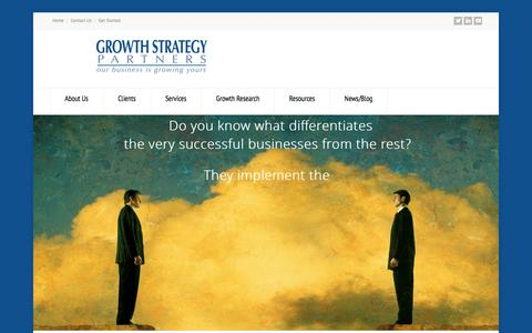 Screenshot of Home Page growthstrategypartners.com - Growth Strategy Partners - captured Jan. 23, 2015