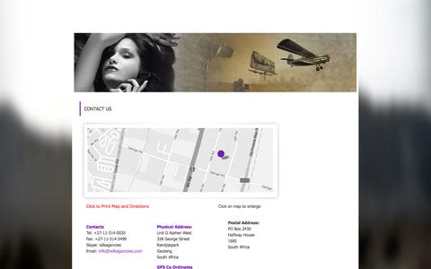 Screenshot of Contact Page sdkagencies.com - Cosmetic manufacturing South African Contact SDK Agencies - captured Sept. 30, 2014