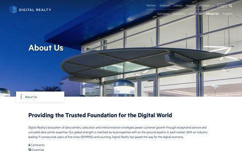 Screenshot of About Page digitalrealty.com - About Us | Digital Realty - captured Nov. 1, 2018