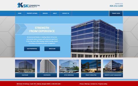 Screenshot of Home Page skcr.com - SK Commercial Realty - Commercial Real Estate for Atlanta, GA - captured Sept. 17, 2015