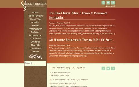 Screenshot of Blog drbasinski.com - Blog | Dr. Basinski - captured Oct. 5, 2014