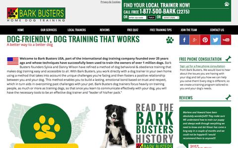 Screenshot of Home Page barkbusters.com - Home Dog Training Behavior & Obedience by Bark Busters - captured Nov. 22, 2016