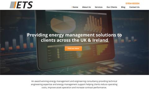 Screenshot of Home Page energy-ts.com - Energy and Technical Services Ltd - captured Nov. 8, 2016