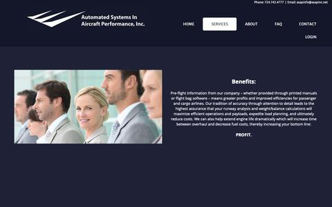Screenshot of Services Page asapinc.net - Services - captured Oct. 4, 2018