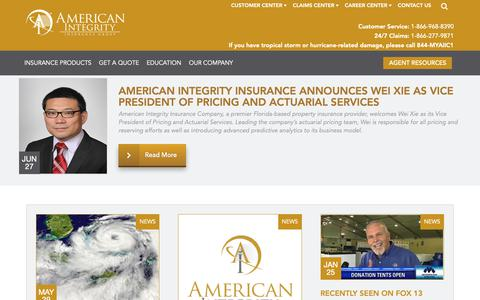 Screenshot of Press Page aiicfl.com - News and Press Releases | American Integrity - captured Oct. 3, 2018