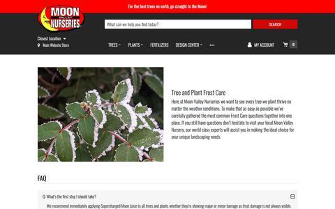 Screenshot of FAQ Page moonvalleynurseries.com - Tree Care FAQ   Tree Care   Moon Valley Nurseries - captured June 19, 2019