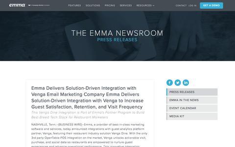 Screenshot of Press Page myemma.com - Emma Email Marketing Newsroom   Emma Email Marketing - captured June 21, 2018