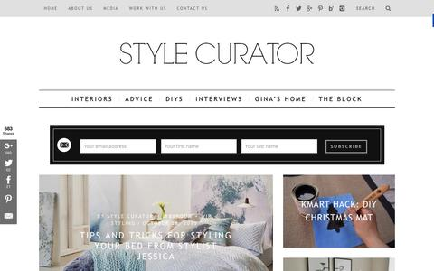 Screenshot of Home Page stylecurator.com.au - STYLE CURATOR - latest home decorating, design, DIYs, home tours and interviews with people in the industry - captured Nov. 3, 2015