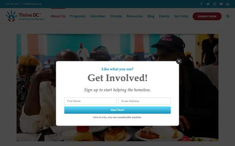 Screenshot of About Page thrivedc.org - About Us - Thrive DC - captured Oct. 21, 2018