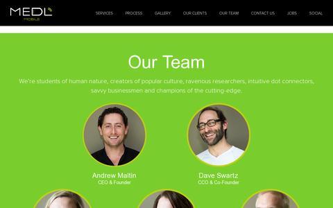 Screenshot of Team Page medlmobile.com - MEDL Mobile - captured July 20, 2014
