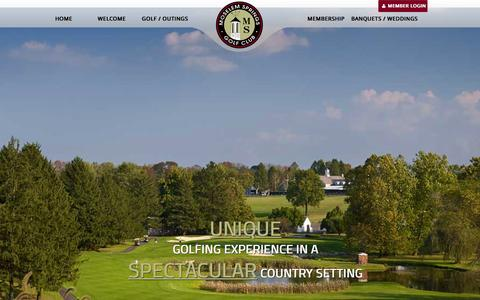 Screenshot of Home Page moselemgolf.com - Home - Moselem Springs Golf Club - captured March 12, 2016