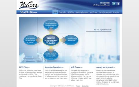 Screenshot of Home Page nuerahealth.com - NuEra Health Alliance - captured Oct. 7, 2014