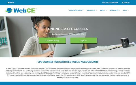 CPA CPE Courses | CPA Ethics CPE | Auditing, Accounting, Tax CPE | WebCE