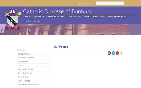 Screenshot of Team Page bunburycatholic.org.au - Our People | Bunbury Catholic Diocese - captured Oct. 29, 2018