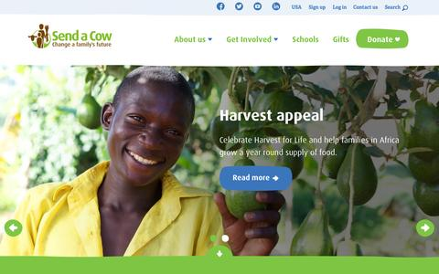Screenshot of FAQ Page sendacow.org.uk - Send a Cow | Home - captured Sept. 24, 2014