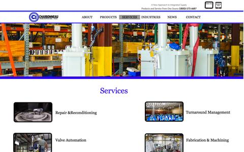 Screenshot of Services Page ciactuation.com - Services - captured July 9, 2016