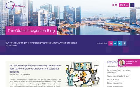 Screenshot of Blog global-integration.com - Blog - Global Integration - captured May 19, 2017